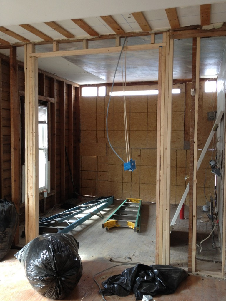 Kitchen with back room removed.
