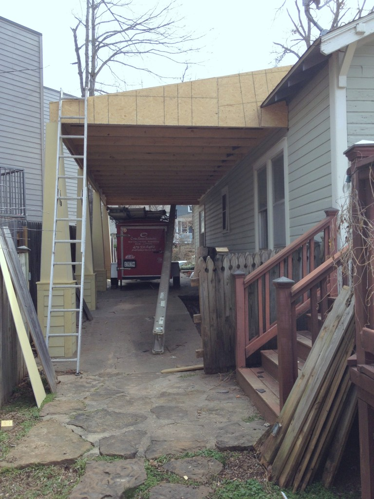 New Carport from back