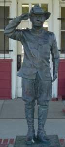 bronze Boy Scout statue  dedicated on July 5, 1976 Pawhuska, Oklahoma