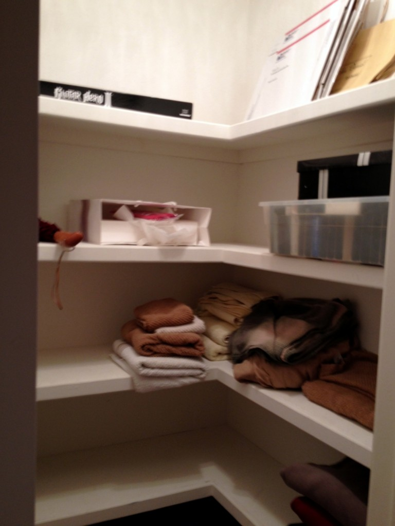Almost empty linen closet