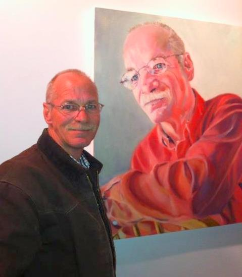 My brother James with his portrait