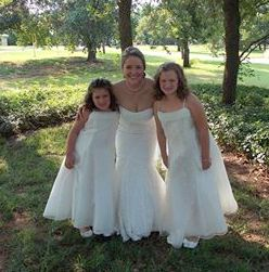 The lovely Emily and darling flower girls.