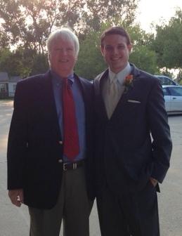 Roggie with Austin, the groom