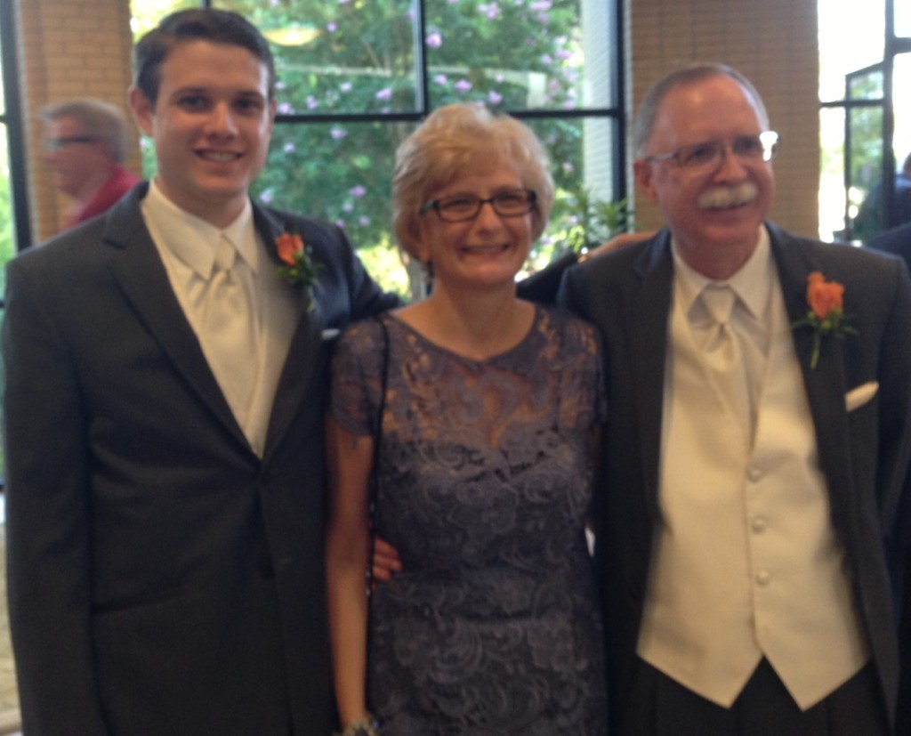 Austin, the groom, with his lovely parents!