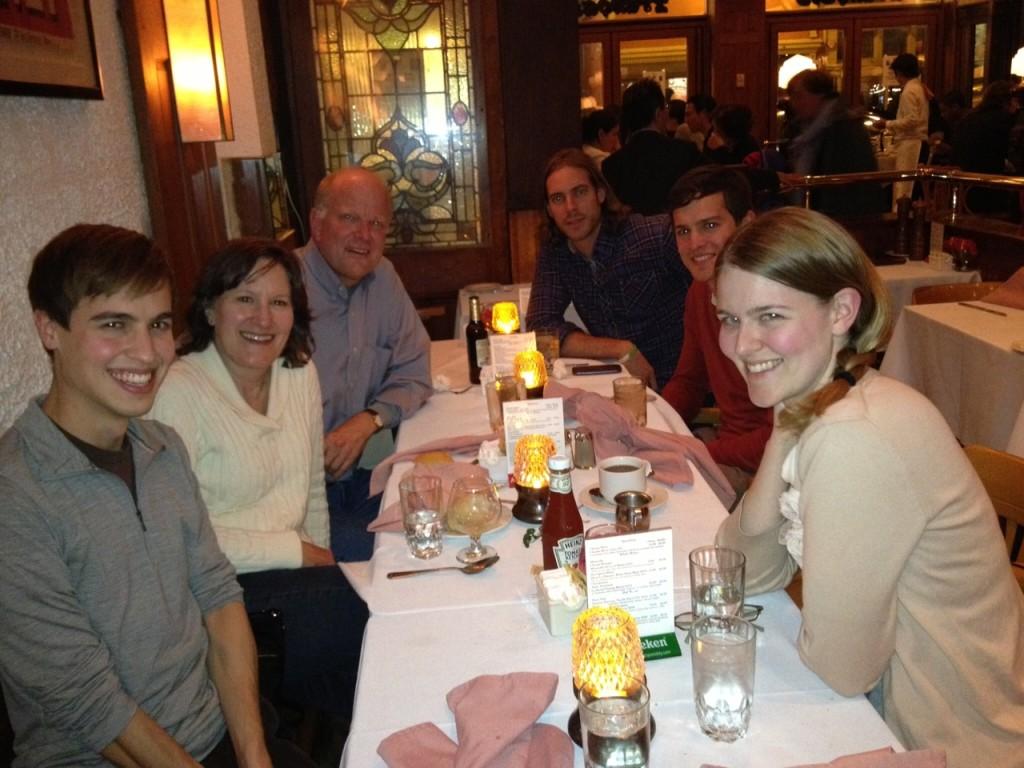 A family dinner in D.C.