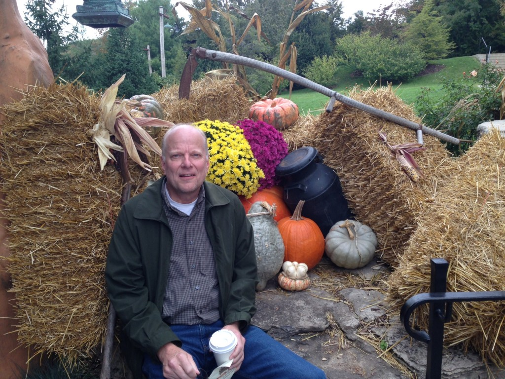 Randy and the pumpkins