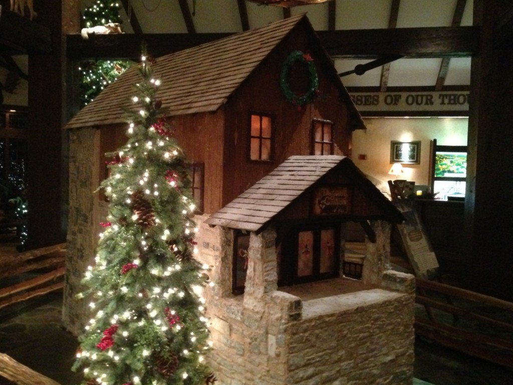 The front of the gingerbread mill
