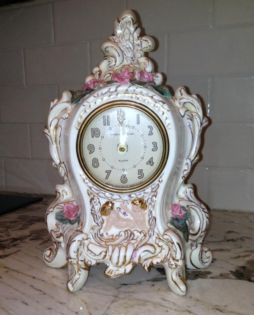 painted china clock