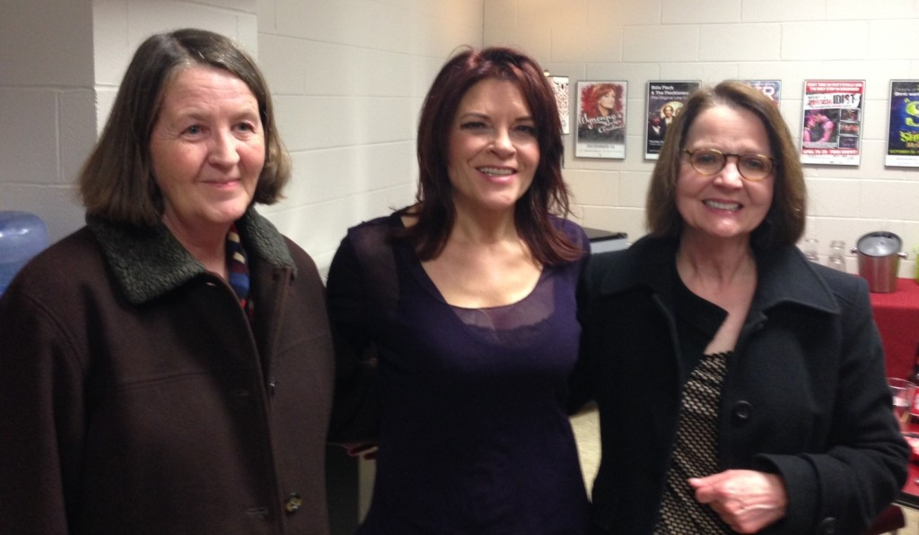 MJ and I with Rosanne Cash