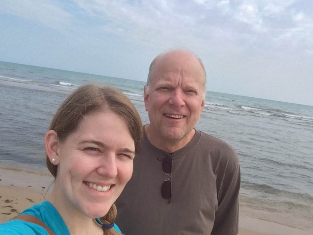 Emily and Randy at the lakeshore
