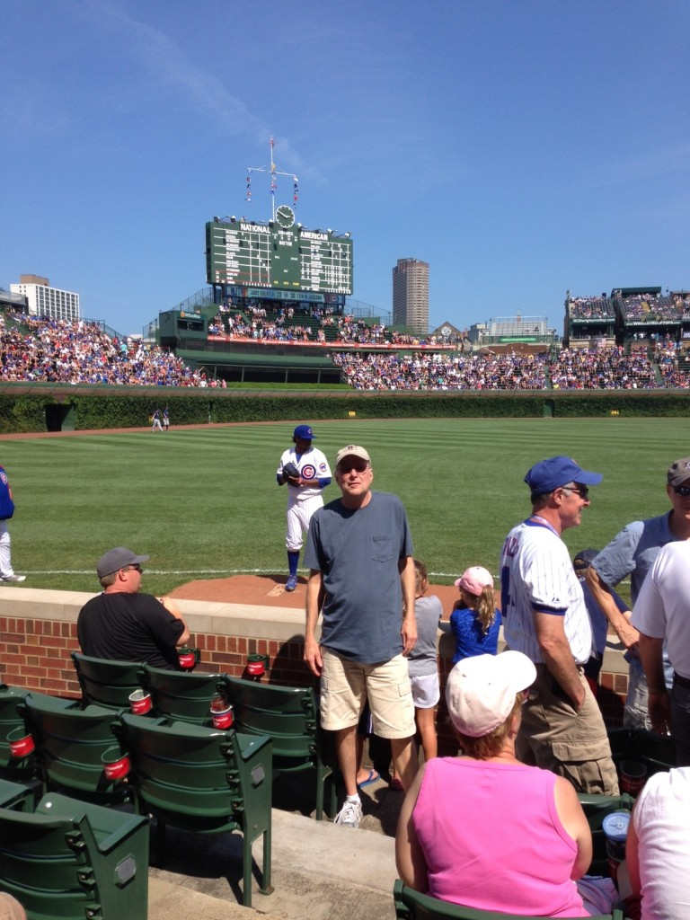 Randy marking Wrigley Field of his bucket list