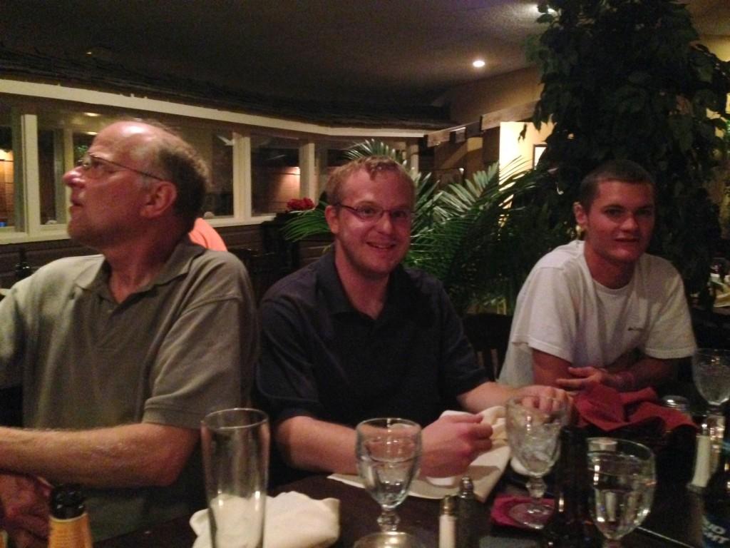 Willett Family Dinner Randy, James and Bucky
