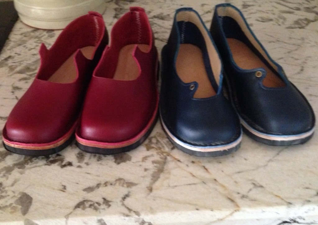 Red and Blue Shoes