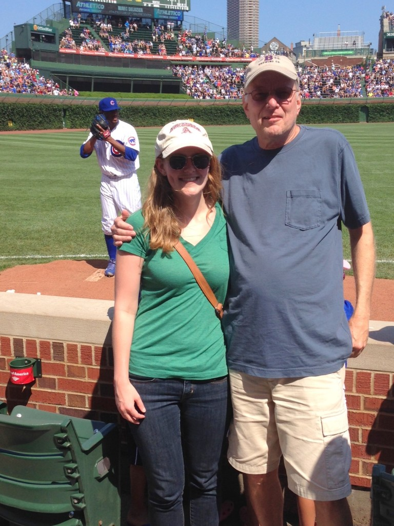 Dad and Daughter Day at a Cubs' game