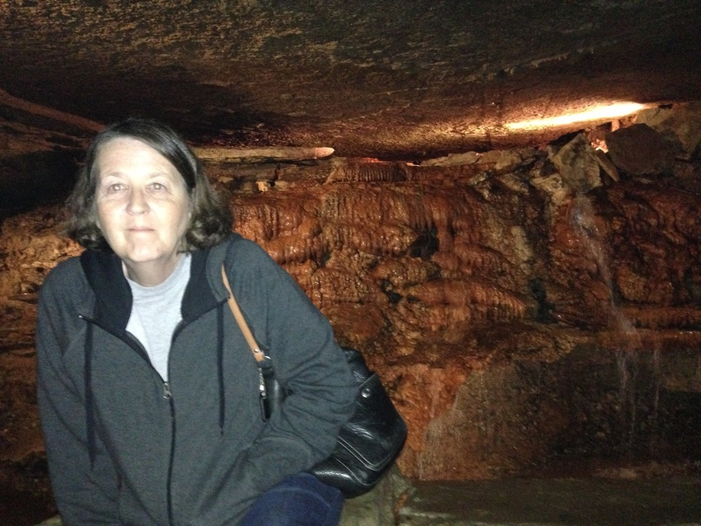 Cathy in a cave