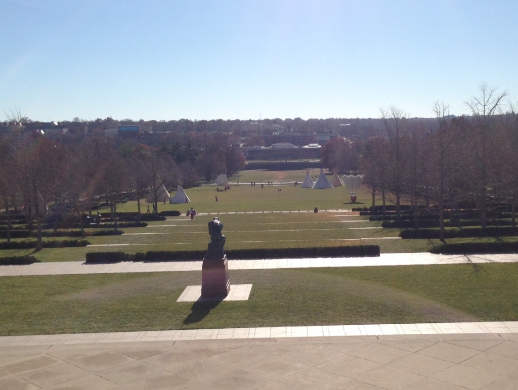 The lawn of the Nelson-Atkins