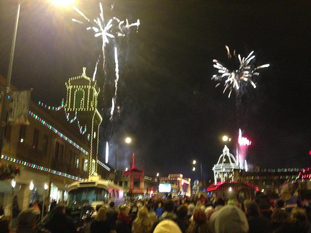 Plaza Lights and Fireworks