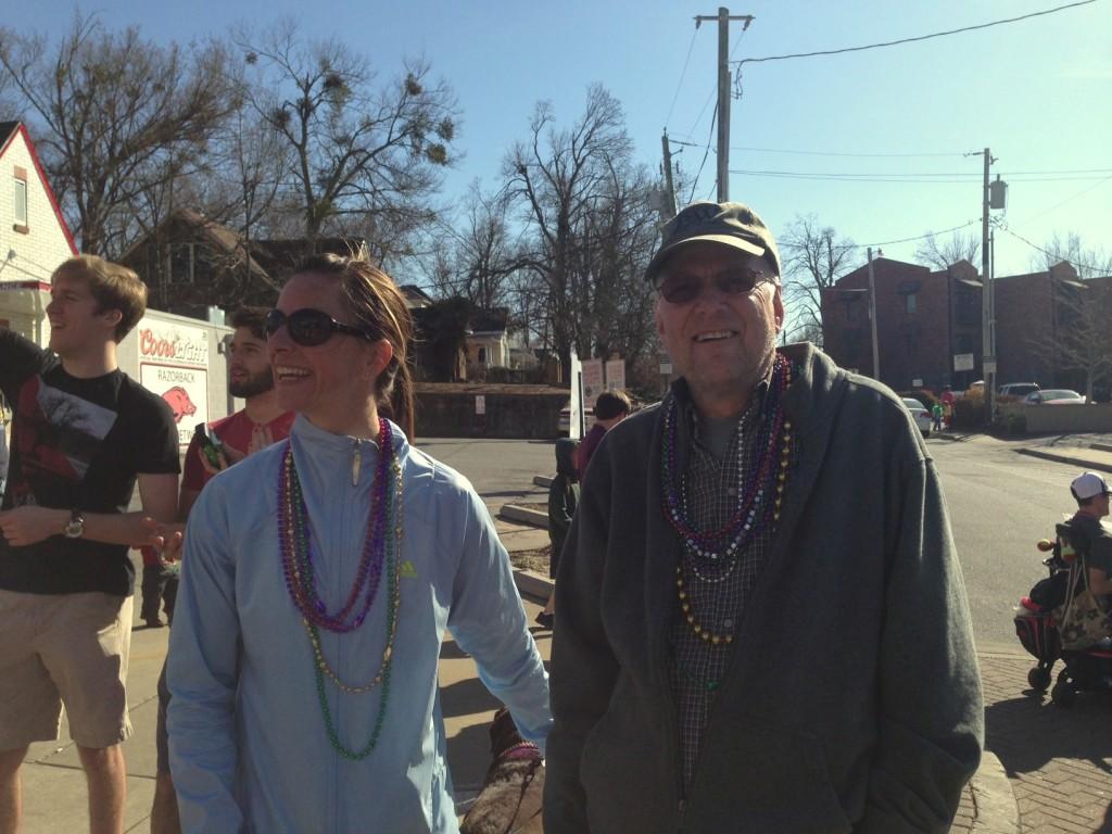 Randy and our neighbor enjoying the parade