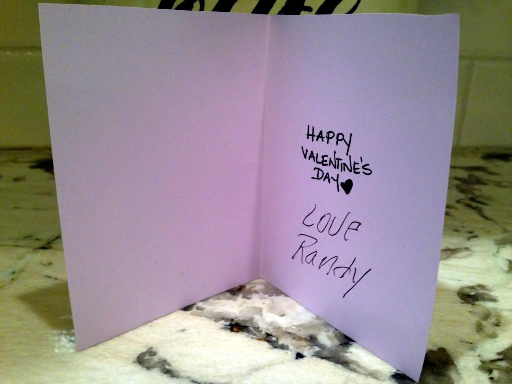 Inside Valentine's card