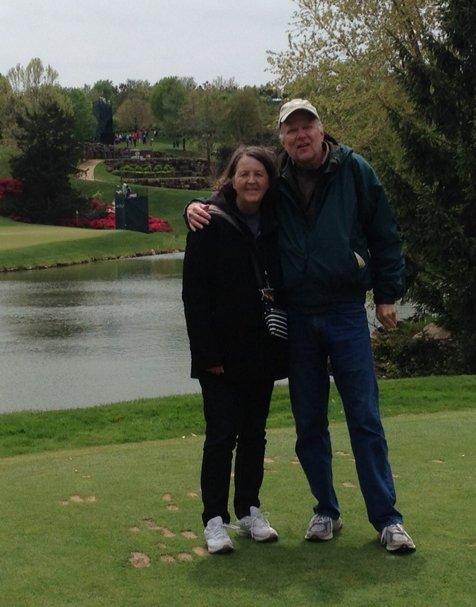 Randy and I at Top of the Rock golf course