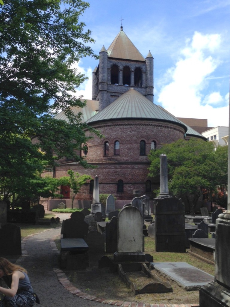 Interesting church and cemetery