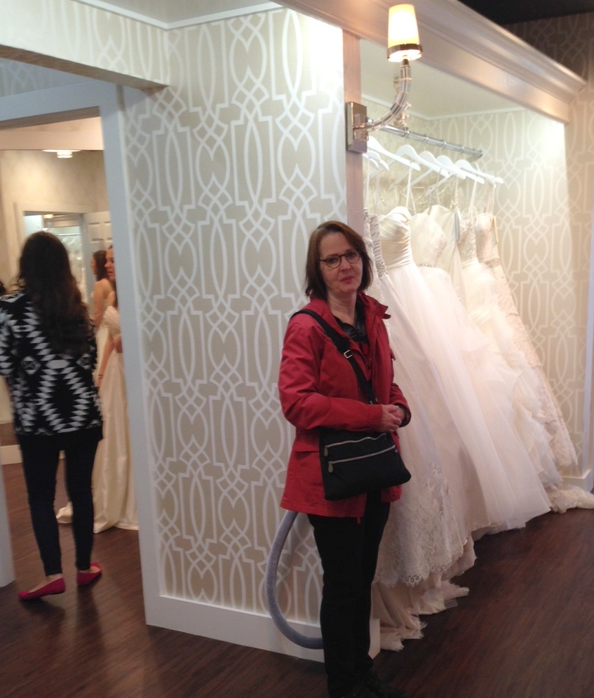 Mary Jean waiting for the next dress!