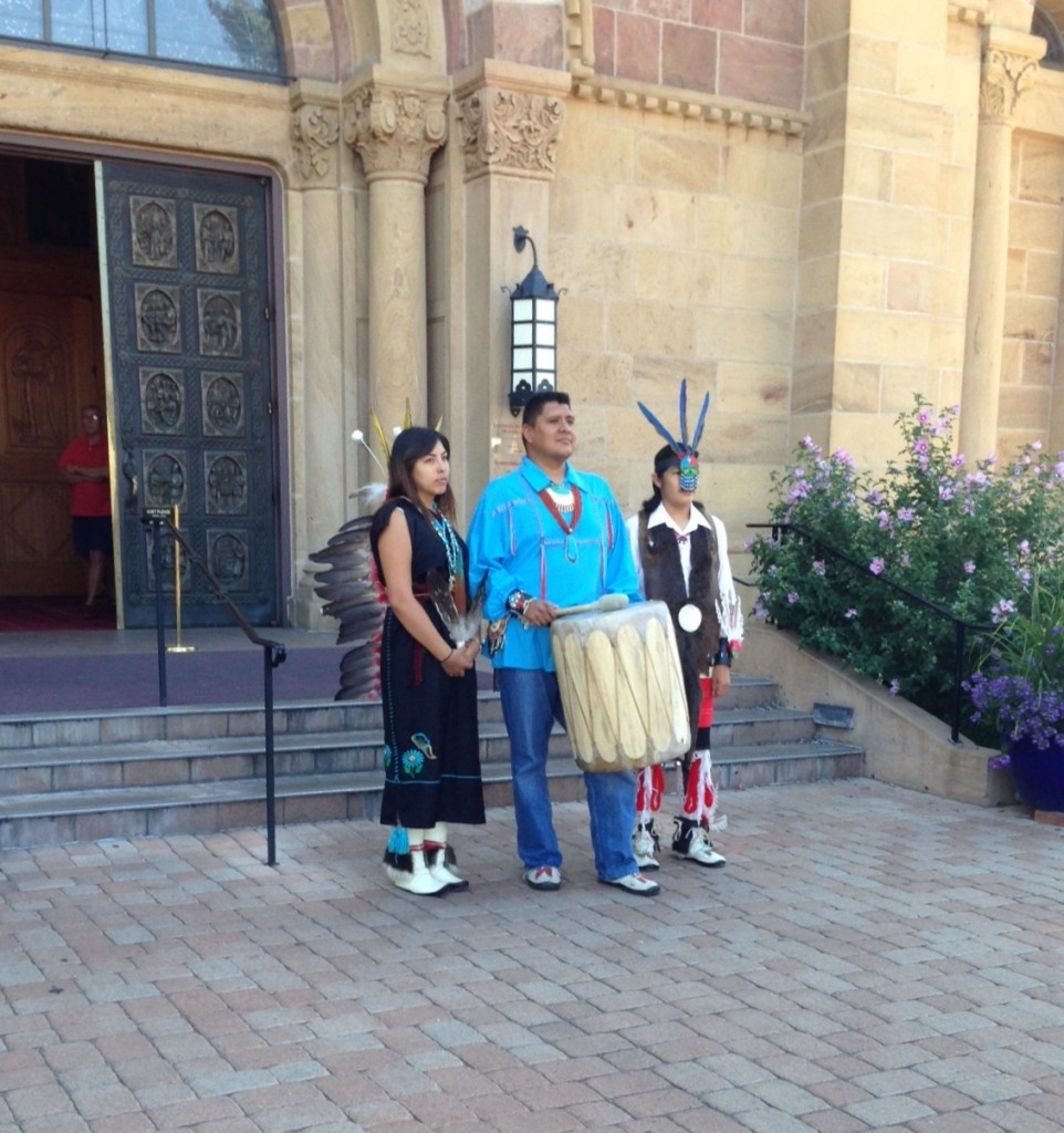 Native Americans at the Cathedral