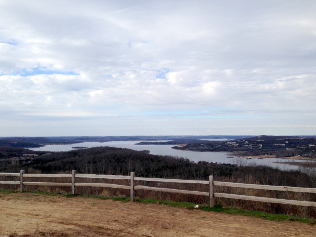 Table Rock Lake in the winter