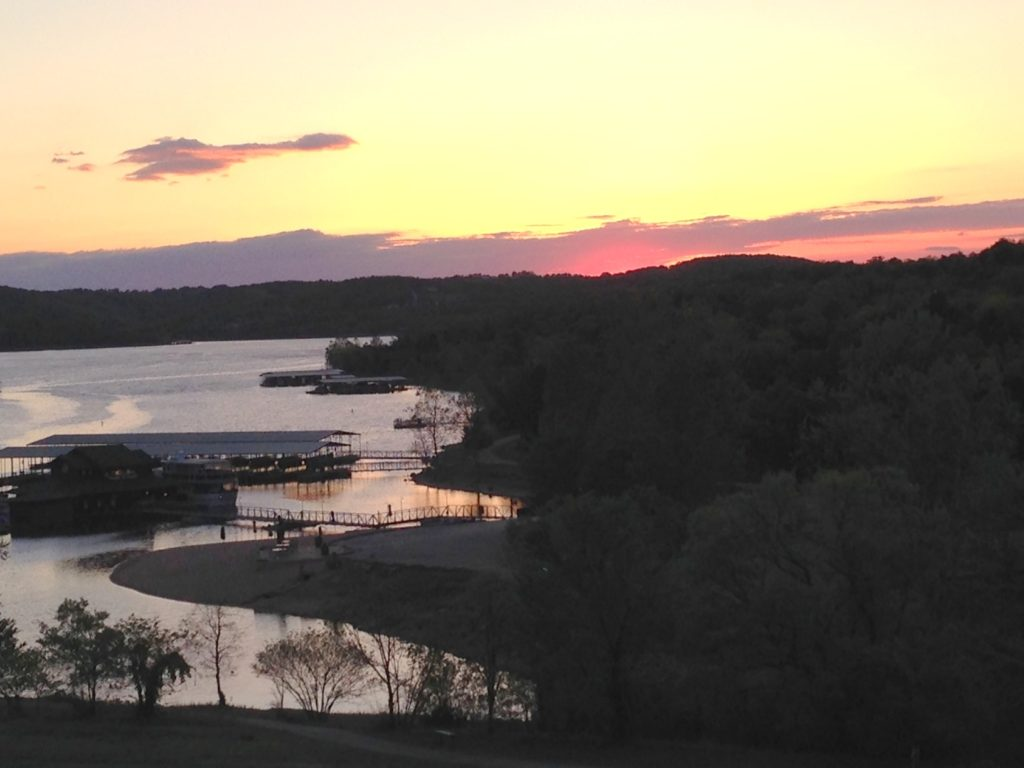 Sunset over Table Rock Lake