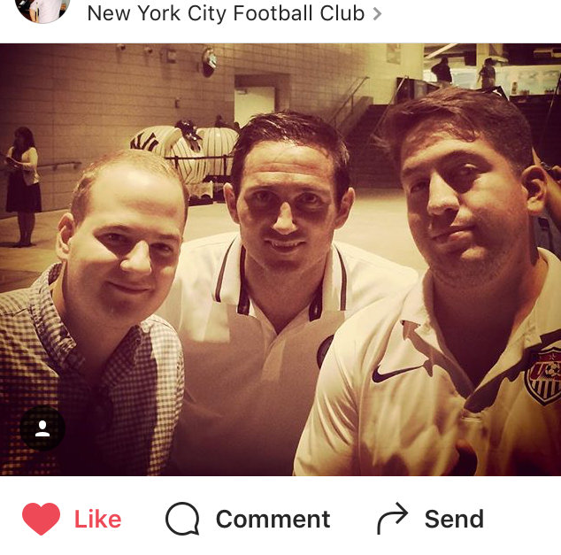 Patrick at the New York City Football Club