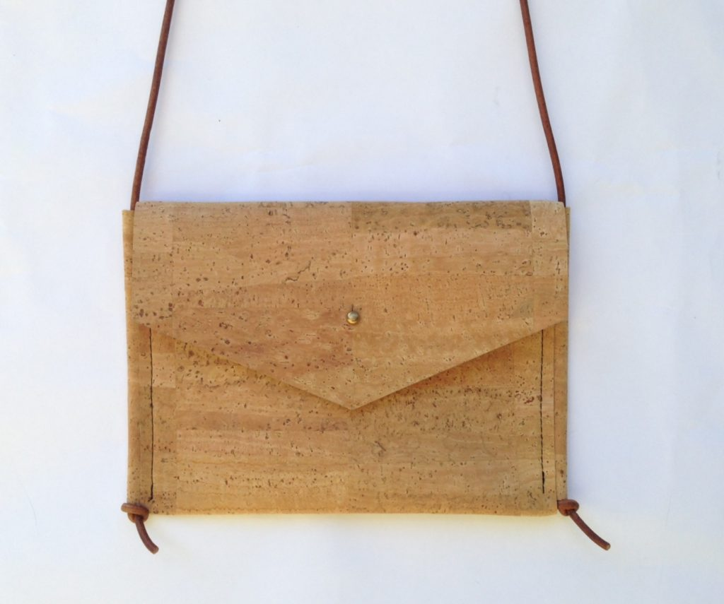 Natural colored cork bag