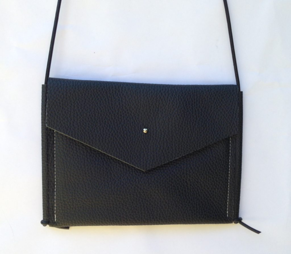 "Black leather ""Katie"" bag"