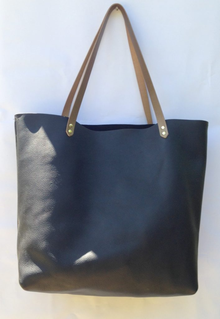 My basic black leather tote