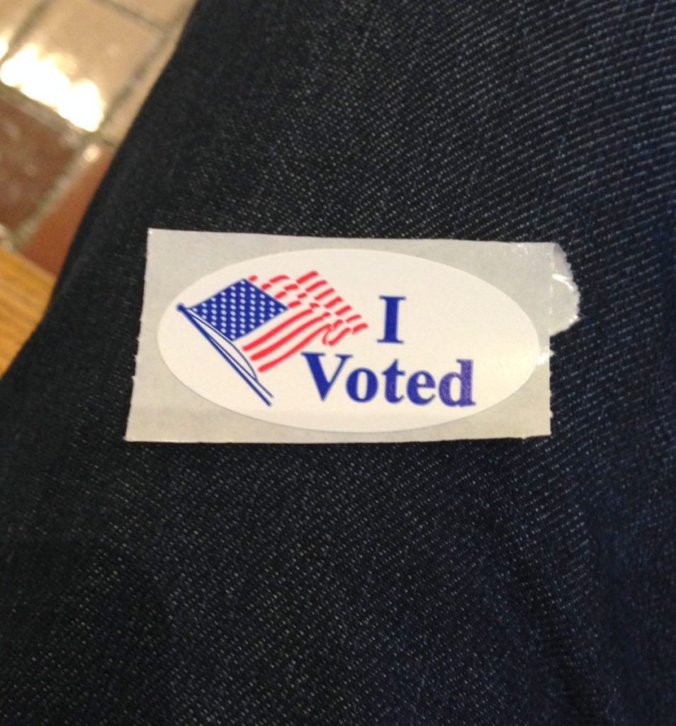 I indeed voted!